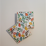Forest Leaves Tile Coasters