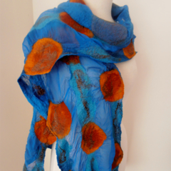 sale nuno felted silk scarf