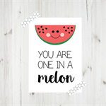 Printed A4 Watermelon Wall Art, Kids Room Wall Decor, Printed Artwork