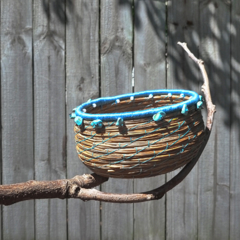 PERSONALISED Handwoven Pine Needle Spiritual Healing Basket (Small Sculptural)