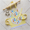 Kids/Toddlers Apron yellow - lined kitchen/craft/play apron - Cute Giraffes