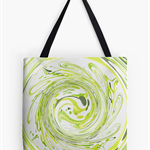"Artist Designed Tote Bag - ""Curly Greens II"""