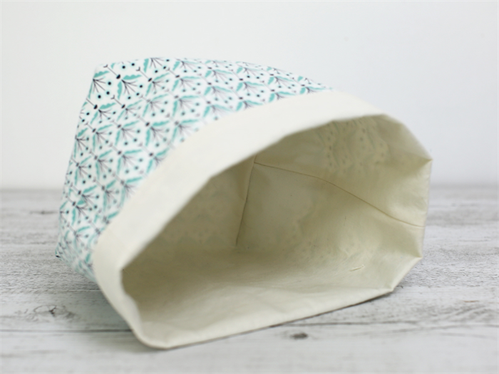 High Quality ... Large Reversible Fabric Storage Basket In Mint Flower Pattern