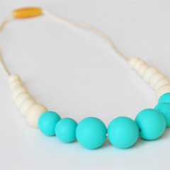 Silicone Necklace - Dipped Gradient Turquoise