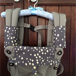 Organic cotton Baby carrier bib & teething pads with cotton wadding for Ergo