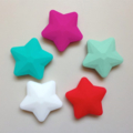 Kid's Star Necklace - Waterproof, Silicone, Mint, White, Pink, Red, Christmas