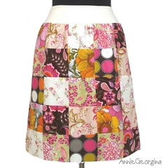Women's A-Line Patchwork Skirt Size Medium