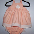 PEACH DRESS AND NAPPY COVER