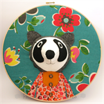 Custom raccoon embroidery hoop wall art, 3D portrait, 3D wall art,nursery decor