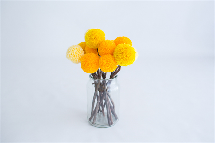 Pom pom flower yellow shades the potters clay madeit pom pom flower yellow shades mightylinksfo