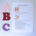 Felt ABC Letters, Alphabet Felt Board Set