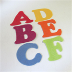 Felt ABC Letters, Alphabet Felt Board Set