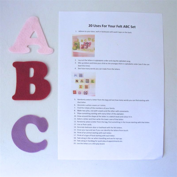 Felt ABC Letters, Alphabet Felt Board Set | Creative Wishes