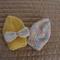 *Special * 2 beanies: Newborn hand knitted Beanie; Lemon, Multi colour