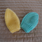 *Special * 2 beanies: Newborn hand knitted Beanie; Lemon, Green