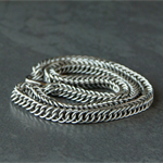 Stainless steel man's chain. Chainmaille stainless steel chain. Gift for him.