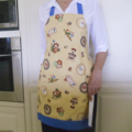 SALE - Full Apron - womens lined retro apron with pocket - Homemade Treats