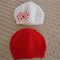 * Special * 2 beanies: Size 6 - 12 mths; Red, White with bow