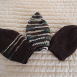 *Special * 3 beanies: Size1-3yrs; Dark brown, Multi colour , Dark brown & multi