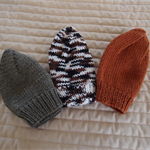 *Special * 3 beanies: Size1-3yrs; Charcoal brown, Multi colour , Brown