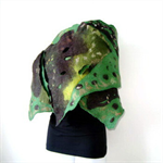 Felted Scarf Wrap Shawl Felt Green,Brown
