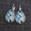 Cherry Blossom ~ Teardrop Lever Back Earrings