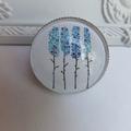 Blue Trees Brooch
