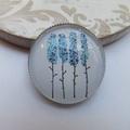 SALE Blue Trees Brooch