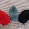 *Special * 3 beanies: Size 6-12mths; Red, Grey/White, Black