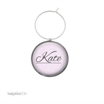 6 Personalised wine glass charms