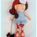 Dorothy Softie Doll with felt Dog