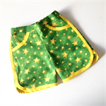 Size 3 Boys' Green and Gold Stars Surfer Shorts