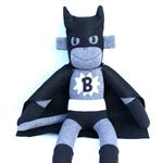 'Batmonkey' the Sock Monkey (Superhero) - personalised - *MADE TO ORDER*
