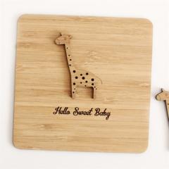 Baby card | Giraffe | Bamboo | Baby Girl Boy Newborn Baby Shower