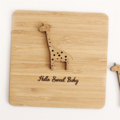 Baby card | Giraffe | Bamboo | Baby Girl Boy Newborn Baby Shower