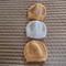 *Special * 3 beanies: New born beanies in Peach, Peach/multi colour, White