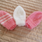 *Special * 3 Prem beanies in Pink, Pink/white, White: machine washable