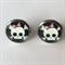 Skull Earrings -glass, stud, retro, surgical stainless steel, rockabilly