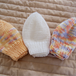*Special * 3 Prem beanies in Peach, Peach/multi colour, White: machine washable