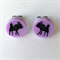 Deer Laser Cut Earrings - acrylic, perspex, plastic, woodland, retro, purple