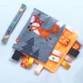 *FREE POST* ~ MR FOX  Baby Security BlankieTaggie Toy + Free Taggie Saver