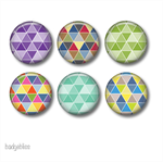 Magnets - Geometric 1 - set of 6 fridge magnets