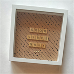 Custom Made Personalised Scrabble Quote Art Gift Present Birthday Decor