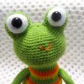 Frog, boy gift, boy toy, crochet toy, amigurumi