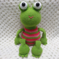 Frog, crochet toy, girl gift, girl toy