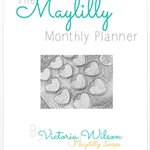 Monthly Planner, Calendar, to do list, your creative business, printable file
