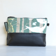 Zippered waterproof pouch. Cosmetic, makeup, toiletry purse