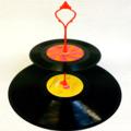 Record Cupcake Stand 2 Tier Vinyl Retro Rockabilly Rock n Roll Cake 50s 60s 70s