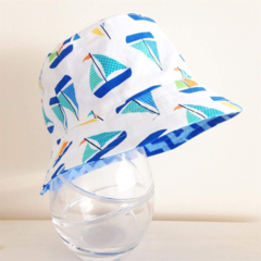 Boys summer hat in cool boat fabric