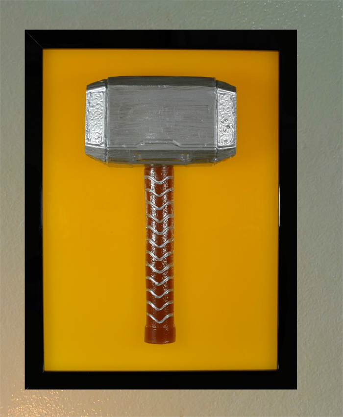 thor s hammer mjolnir 3d wax painting led light box model prop